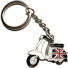 GB Great Britain Union Jack Flag Scooter Metal Keyring Enamel MOD Scooterist
