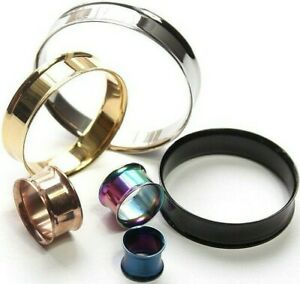 1 piece 2mm-50mm Double Flare Stretcher Ear plug Steel Metal Guages Flesh Tunnel