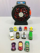 Mattel Hot Wheels 1998 Spinning 16 Car Carry Case with (12) Hot Wheels Car Lot
