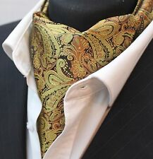 Cravat Ascot Gold Paisley Cravat with matching hanky.