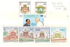 COTE D'IVOIRE TIMBRES NEUFS ** THEME PAQUES RELIGION PAPES ECT..