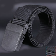 Wild Men Canvas Belt Hypoallergenic Metal free Plastic Automatic Buckle men Belt