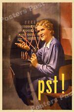 """1940s """"Pst!"""" WWII Historic Propaganda War Poster - 24x36"""