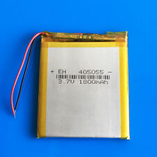 1800mAh 3.7V LiPo Battery For Camera Recorder Tablet PC DVD GPS PAD Phone 405055