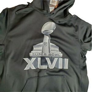 Nike Super Bowl XLVII 47 Gray Hoodie Therma-Fit Long Sleeve Pullover Med NWT