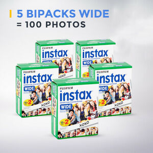 5 Films bipacks Fujifilm Instax Wide = 100 photos