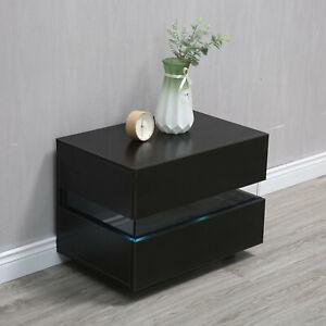 Set Of 2 Nightstand End Table Bedroom W/Storage Organizer Wooden Side Bedside