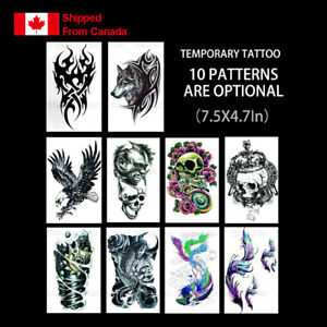 Temporary tattoo Fake Body Arm Chest Shoulder Tattoos Stickers for Men Women