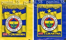 "RARE !! 2 Pochettes ""FENERBAHCE 2007 TURKEY"" packet, tüte, bustina PANINI"