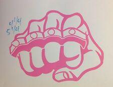 Brass Knuckles Decal Fist Fighting UFC Gangster Gangsta car truck Window sticker