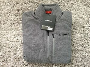 Simms Fly Fishing Rivershed Fleece Sweater - Zip Neck M