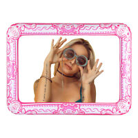 Large Pink Inflatable Selfie Picture Frame Blow Up Photo Booth Party Decoration