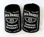 SET OF 2 JACK DANIELS TENNESSEE WHISKEY LABEL BEER CAN STUBBY COOLERS HOLDERS