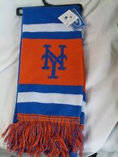 "NWT MLB 2012 TEAM STRIPE ACRYLIC SCARF 64""x7"" - NEW YORK METS"