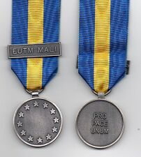 *** NEW *** EU-ESDP MEDAL WITH CLASP: EUTM MALI - FULL-SIZE ORIGINAL ISSUE MEDAL