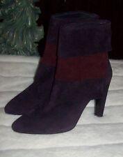 STUART WEITZMAN BOOTS plum suede heels ankle boots shoes  SZ 9.5 NEW $475