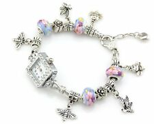 Watch Style Charm Bracelet Fit European Bead 20cm Free Ship WN024