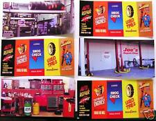 ONE SET OF six GARAGE shop DIORAMA DECALS each(3 1/2'' H x 6''L)for1:35 to1:43