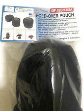 """Op/Tech Fold-Over Pouch 356 - Black - 3.5"""" x 6"""" L (8,9 cm x 15,2 cm l)"""