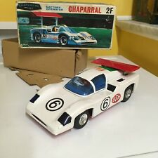 Alps Vintage, Fully Working, Tin, Chaparral 2F Battery Operated Race Car W/Box!