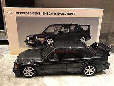 1/18 AUTOART MERCEDES-BENZ 190 E 2.5-16 EVOLUTION II MET BLACK MEGA RARE HOT!!!