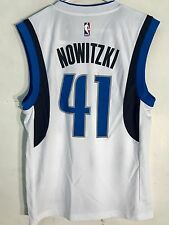 Adidas NBA Jersey Dallas Mavericks Dirk Nowitzki White sz 3X