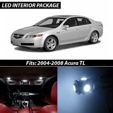 2004-2008 Acura TL White Interior LED Lights Package Kit