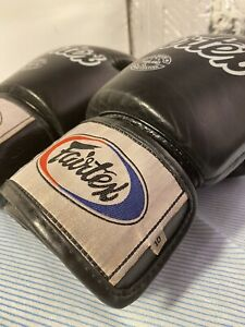 Fairtex BGV1 Leather Boxing Gloves Muay Thai Kickboxing Black Universal Sparring