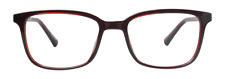 NEW Eco Ganges Brown Shiny Crystal Unisex Recycled Plastic Eyeglasses 48-17