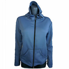 Hot Chillys Womens Jacket Quilted Look Hooded Jacket HS5038 Blue Chambray Black
