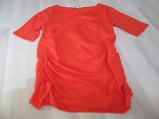 BODEN CHIC +++ ORANGE ROUCHED SIDE TOP SIZE 22