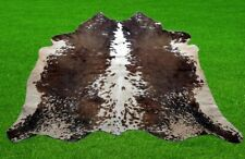 """100% New Cowhide Rugs Area Cow Skin Leather (47"""" x 43"""") Cow hide SA-1758"""
