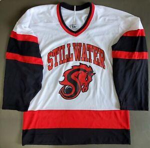 Stillwater Ponies High School Minnesota CCM White Hockey Jersey Medium #10