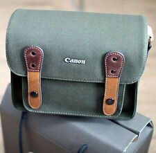 Canon Powershot Compact Canvas Camera Case Mini Small Bag w/ Shoulder Strap