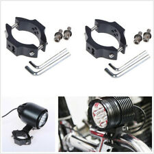 2*Black Motorcycle Bikes Turn Signal Relocation Fork Clamps Brackets+Accessories