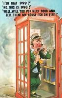 VINTAGE COMIC BAMFORTH DRUNK DIALS 998 INSTEAD of 999 POSTCARD - as NEW