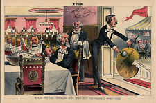 ULYSSES GRANT SITTING AT TABLE READY FOR THE HERALD'S LOVE FEAST ROSCOE CONKLING