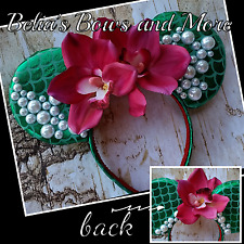 Mermaid Mouse Ears, Handmade Item....accent with pearls and tropical flowers