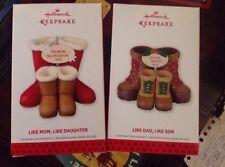 Hallmark Ornament 2013 Like Mom, Like Daughter & Like Dad, Like Son Set Of 2