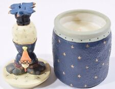 "Williraye Studio Figurine Round Candle ""Snowman & Birds"" XC5380"