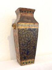 Antico Cinese Pavone LEGNO LACCATO Corte Lampada Mount o vaso FT. GUFO Ornamenti