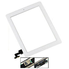 For iPad 2 Digitizer White Screen Replacement Front Touch Glass Button Adhesive