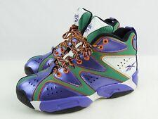 Mint 2013 Reebok Kamikaze Basketball Shoes Boys Size 6 Purple Green Silver