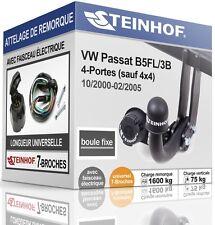 ATTELAGE fixe VW PASSAT 4-Portes B5FL 2000-2005 + FAISC.UNIV.7-broches COMPLET