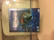 Finding Nemo 3D Blu-Ray Steelbook UK Region Free Disney w/lenticular magnet-New!