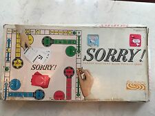 Sorry Vintage 1964 Parker Brothers Board Game Rare