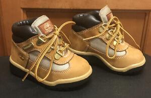 Timberland 15845 Field Wheat Nubuck Waterproof Boot Boys Toddler Size 6