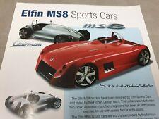 Sept 2004 ELFIN  MS8 SPORTS CARS  Australian Sales Leaflet