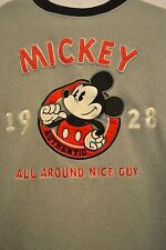 Disney Store Mickey Mouse Fleece Sweatshirt Pullover Gray Size Small