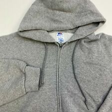 Russell Athletic Hoodie Men's Size 2XL Long Sleeve Gray Full Zip Poly Cotton